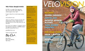 Velo Vision Sample Article - Dahon