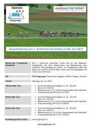 Ausschreibung 2013 - Radsporttage Gippingen