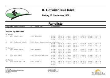 8. Tuttwiler Bike Race Freitag 26. September ... - SC-Tuttwilerberg