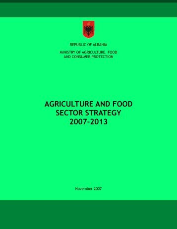 agriculture and food sector strategy 2007-2013 - Department of ...