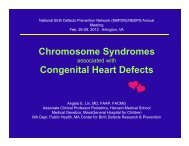 Chromosome Syndromes Congenital Heart Defects - National Birth ...