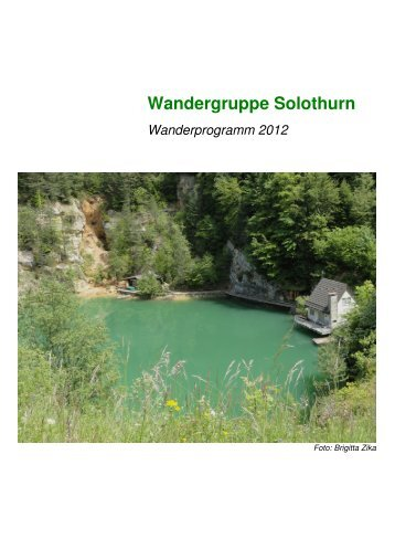 2012 Wanderprogramm SO - Pro Senectute Kanton Solothurn