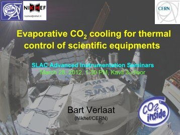 The future of CO2 cooling in particle physics - Www Group Slac ...