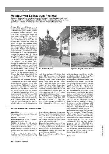 Eglisau Rheinfall PDF - Pro Velo