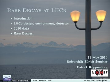 Rare Decays at LHCb - Nikhef