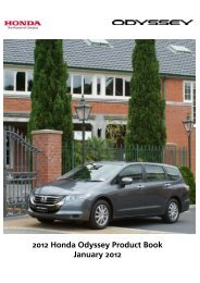 Odyssey 2012 Technical Product Book - Honda New Zealand