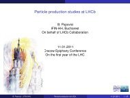 Particle production studies at LHCb - Cracow