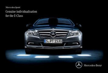 Genuine individualisation for the E-Class - Mercedes-Benz PRAHA