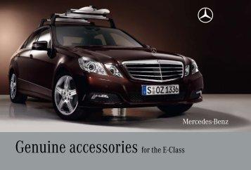Genuine Accessories for the E-Class (PDF, 3.70
