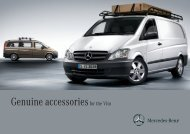 Genuine Accessories for the Vito. - Mercedes-Benz Accessories GmbH