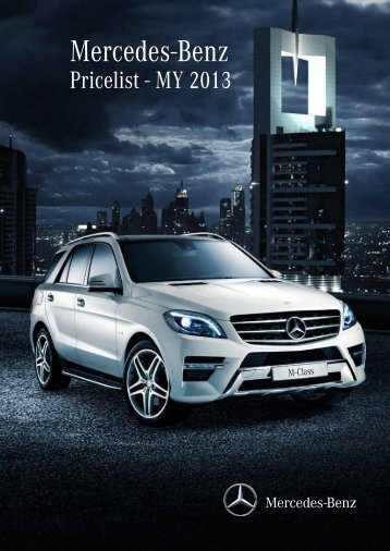 Mercedes-Benz Pricelist – 2012 - Mercedes-Benz Middle-East and ...