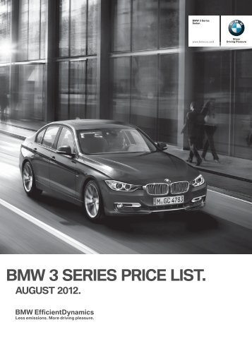 Bmw 3 series price list.