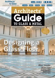 March/April 2011 - Architect's Guide to Glass & Metal