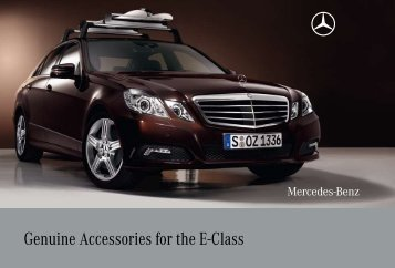 Genuine Accessories for the E-Class - Mercedes-Benz Canada