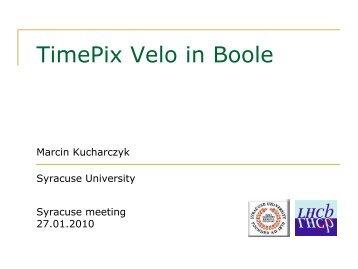 VeloPix in Boole - Syracuse University