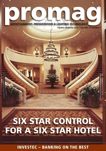 SIX STAR CONTROL FOR A SIX STAR HOTEL - Electrosonic