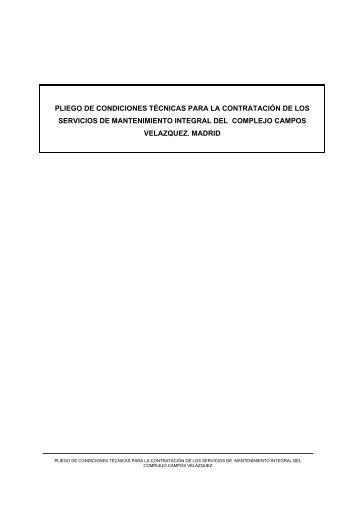 PLIEGO DE PRESCRIPCIONES TÉCNICAS PARA LA ... - Sepides