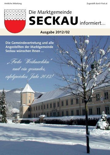 Ausgabe 2012/02 - Marktgemeinde Seckau