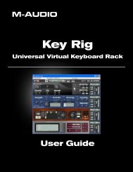 Key Rig User Guide - M-Audio