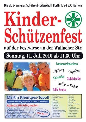 Sonntag, 11. Juli 2010 ab 11.30 Uhr Kinder - Sankt Evermarus Borth ...