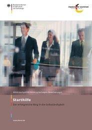 Starthilfe - der Weg in die Selbständigkeit (pdf, 827 - Frankfurt am Main