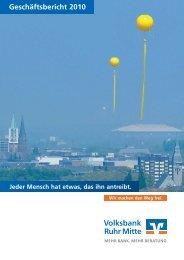 Geschäftsbericht 2010 - Volksbank Ruhr Mitte eG