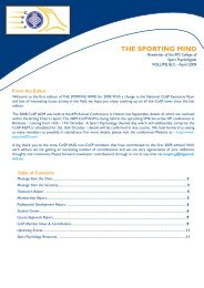 The Sporting Mind - Vol8(1) April 2009.indd - APS Member Groups