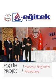 F@TİH PROJESİ - MEB Eğitek - Milli Eğitim Bakanlığı