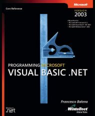 Programming Microsoft Visual Basic .NET Version 2003 ... - doc serve