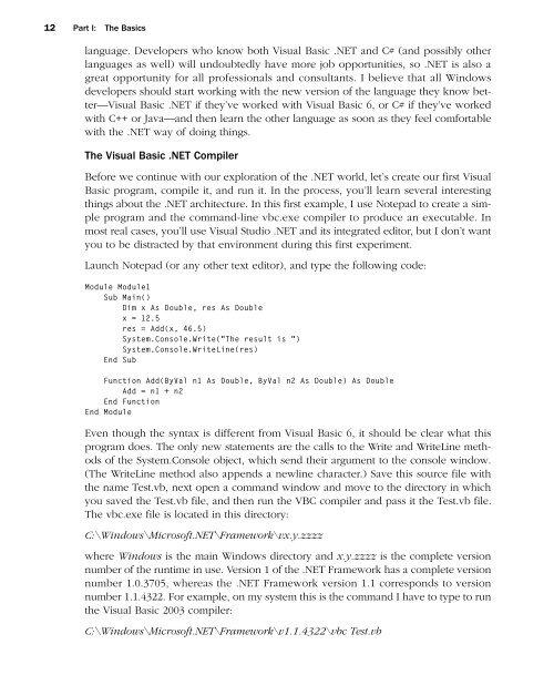 Programming Microsoft Visual Basic .NET Version 2003 ... - doc serve