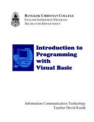 Download: Introduction to Programming with Visual basic - Bcc-ict.net
