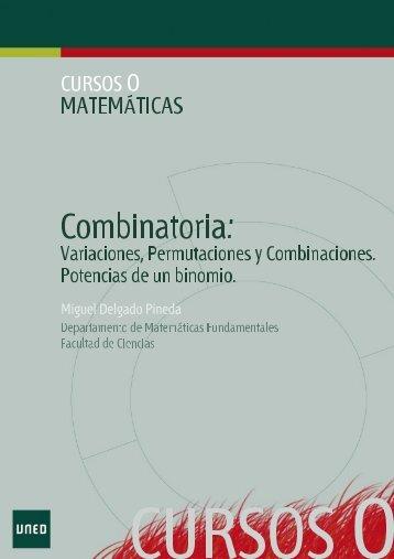 Combinatoria - Cursos en Abierto de la UNED