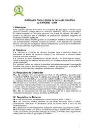 Edital para Pleito a Bolsa de Iniciação Científica da FAPEMIG - 2011 ...