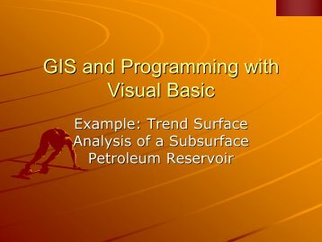 GIS and Programming with Visual Basic
