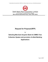Delhi Metro Rail Corporation Limited Request for Proposal(RFP)