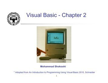 Visual Basic - Chapter 2