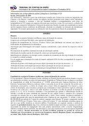 Informativo de Jurisprudência sobre Licitações e Contratos nº 01