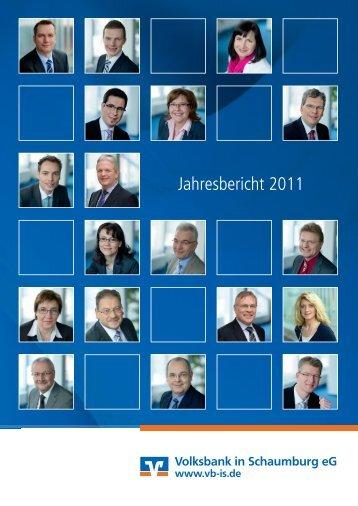 Jahresbericht 2011 - Volksbank in Schaumburg eG