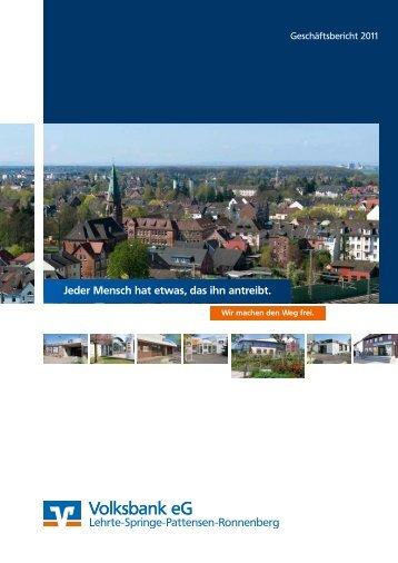 Geschäftsbericht 2011 - Volksbank eG