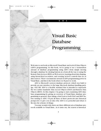 Learn To Program Databases With Visual Basic 6