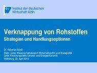 Vortrag Dr. H. Bardt