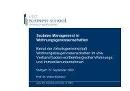 Soziales Management in Wohnungsgenossenschaften Beirat der ...