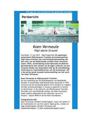 Persbericht Koen Vermeule. High above Ground - Rijksmuseum ...
