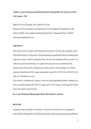 1 Análise e caracterização geoambiental da bacia hidrográfica do ...
