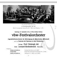 vbw-Festivalorchester - Freunde der Musik