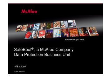 SafeBoot® , a McAfee Company Data Protection Business Unit - SPP