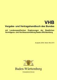 VHB Vergabe - Staatliche Vermögens - Baden-Württemberg