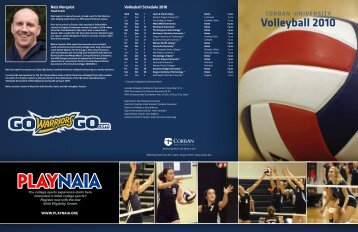 Volleyball 2010 - Corban University Athletics