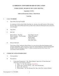 09-13-2012 Final Agenda - Lumberton Township Schools