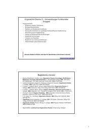 Organische Chemie 2 – Umwandlungen funktioneller Gruppen ...